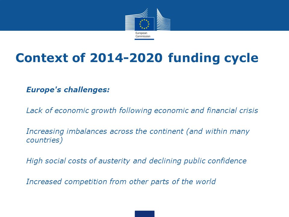Context of 2014-2020 funding cycle