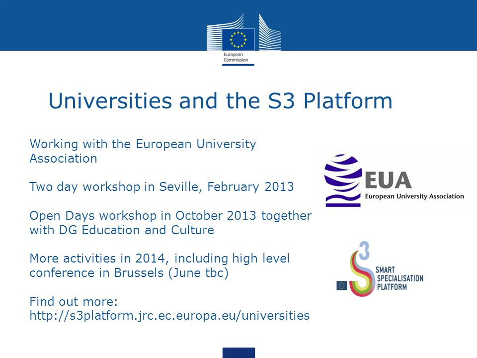 Universities and the S3 Platform