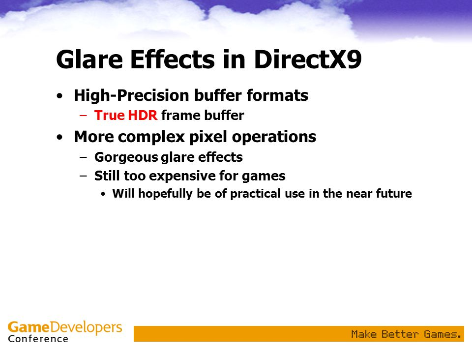 Glare Effects in DirectX9