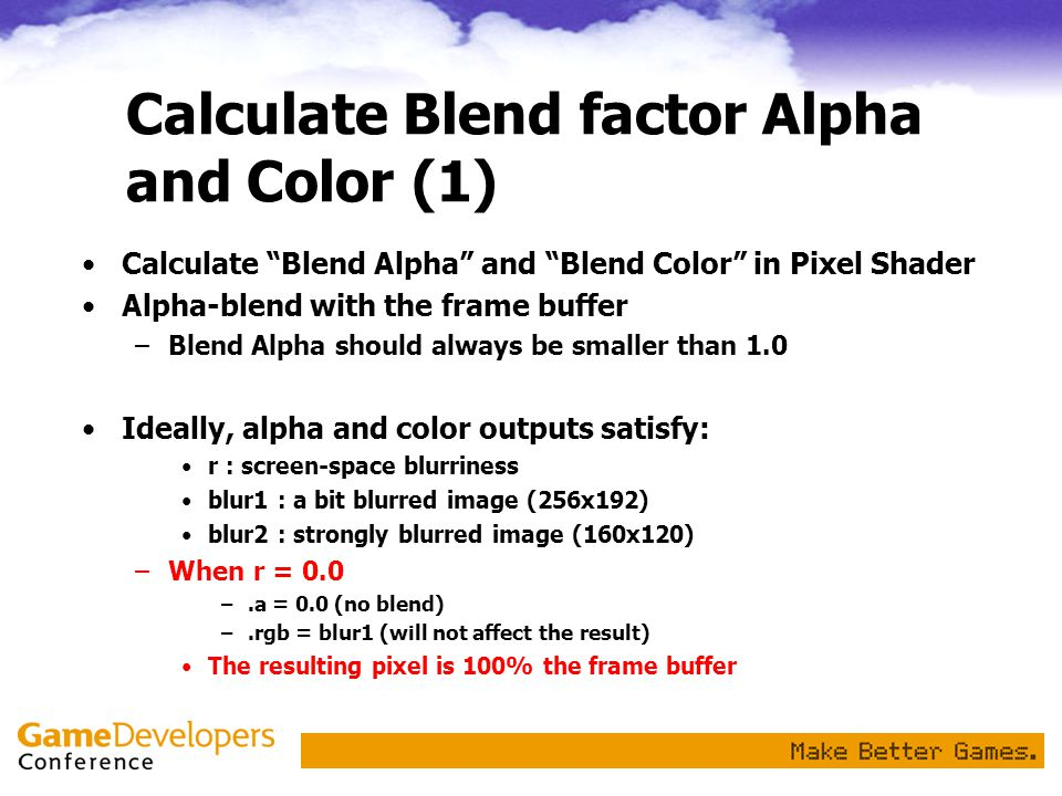 Calculate Blend factor Alpha and Color (1)
