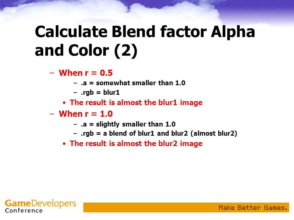 Calculate Blend factor Alpha and Color (2)