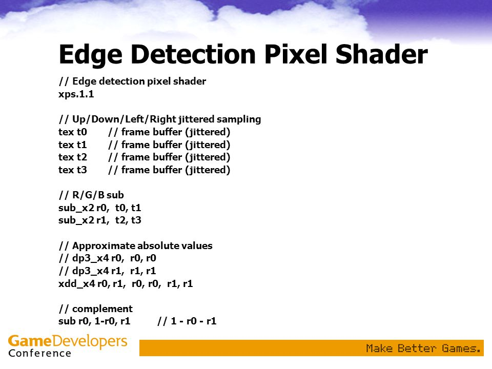 Edge Detection Pixel Shader