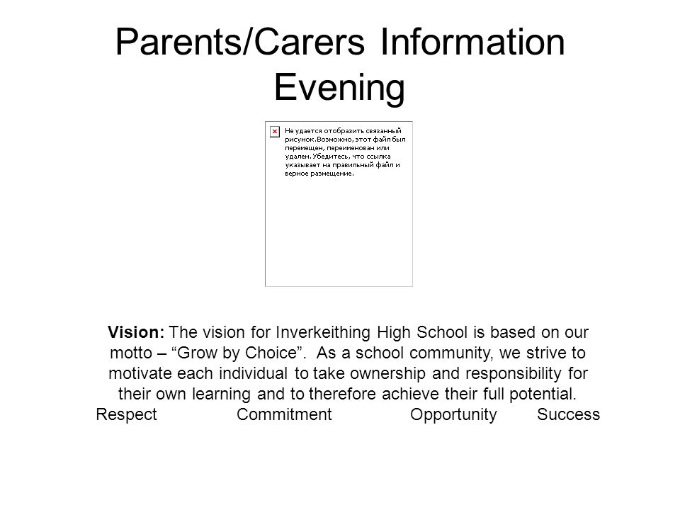 Parents/Carers Information Evening