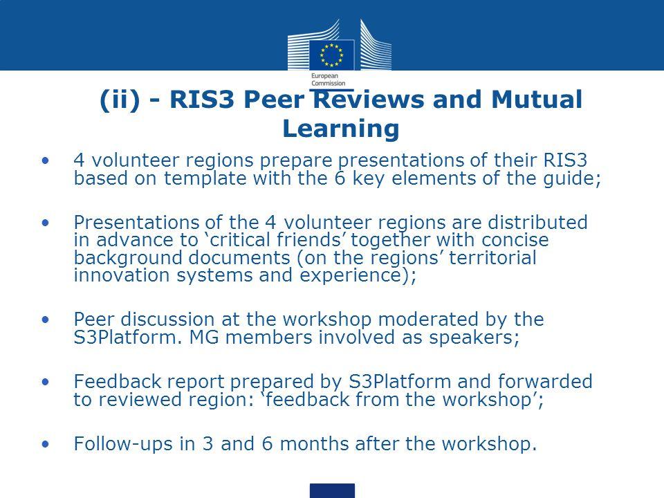 (ii) - RIS3 Peer Reviews and Mutual Learning