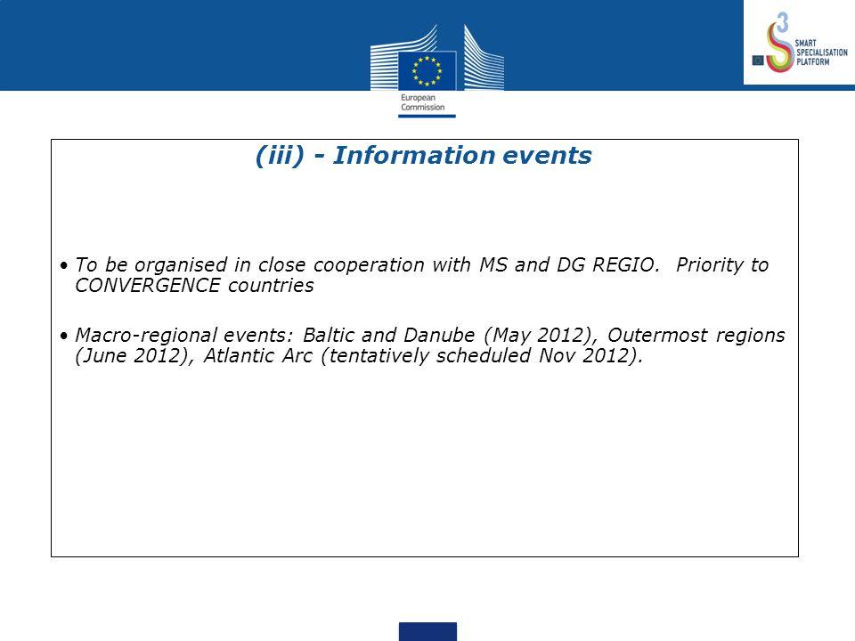 (iii) - Information events