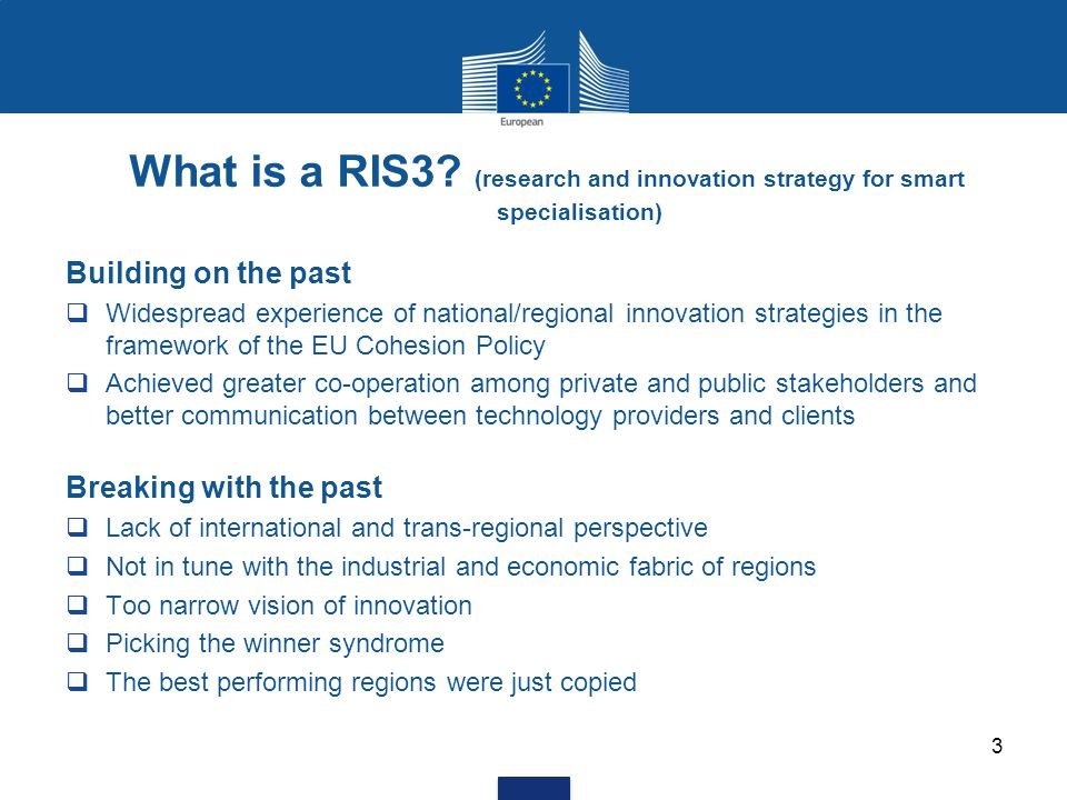 What is a RIS3. (research and innovation strategy for smart