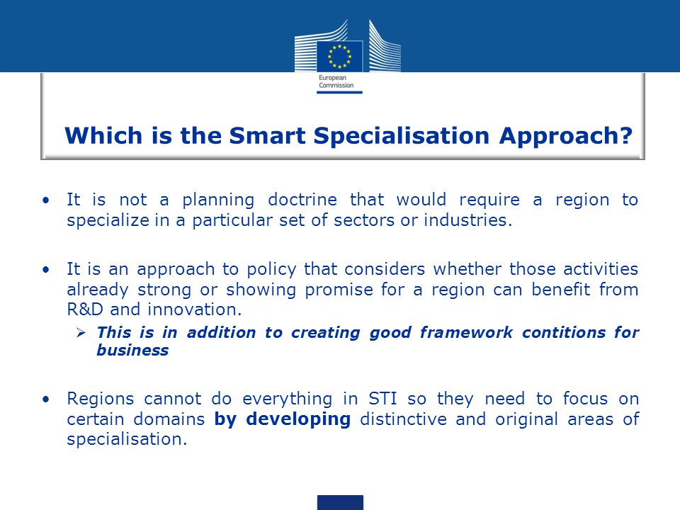 Which is the Smart Specialisation Approach