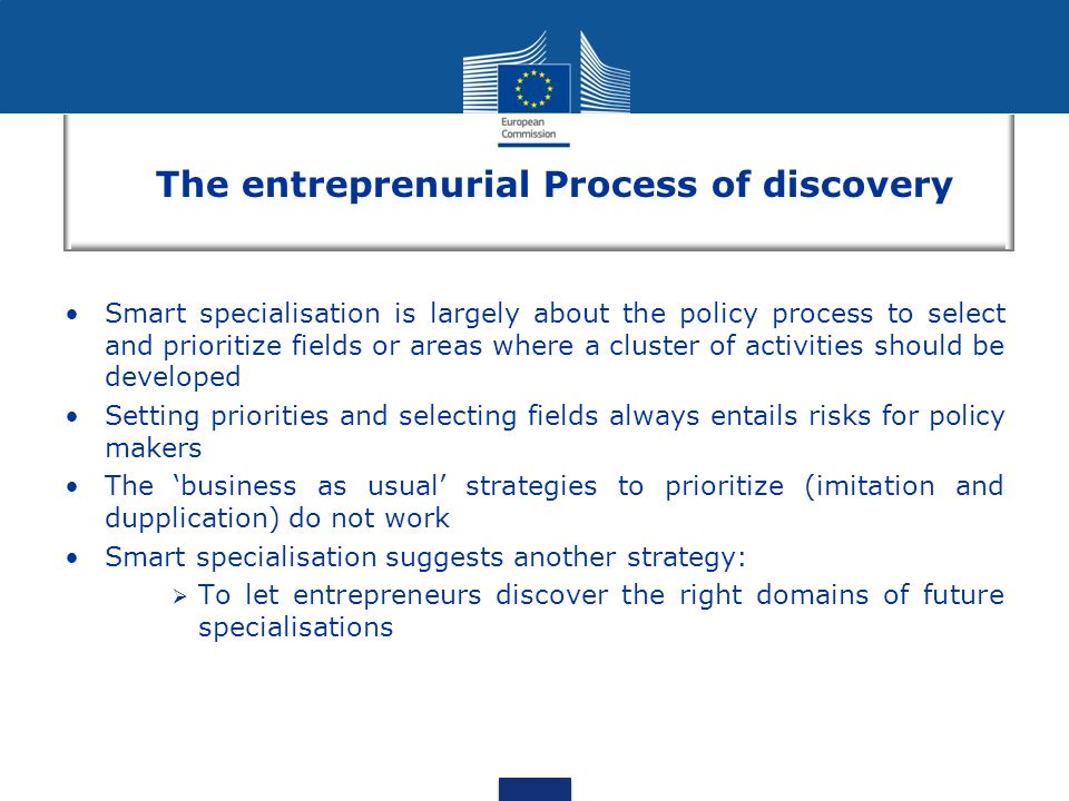The entreprenurial Process of discovery