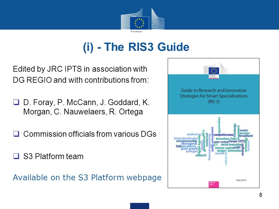 (i) - The RIS3 Guide Edited by JRC IPTS in association with