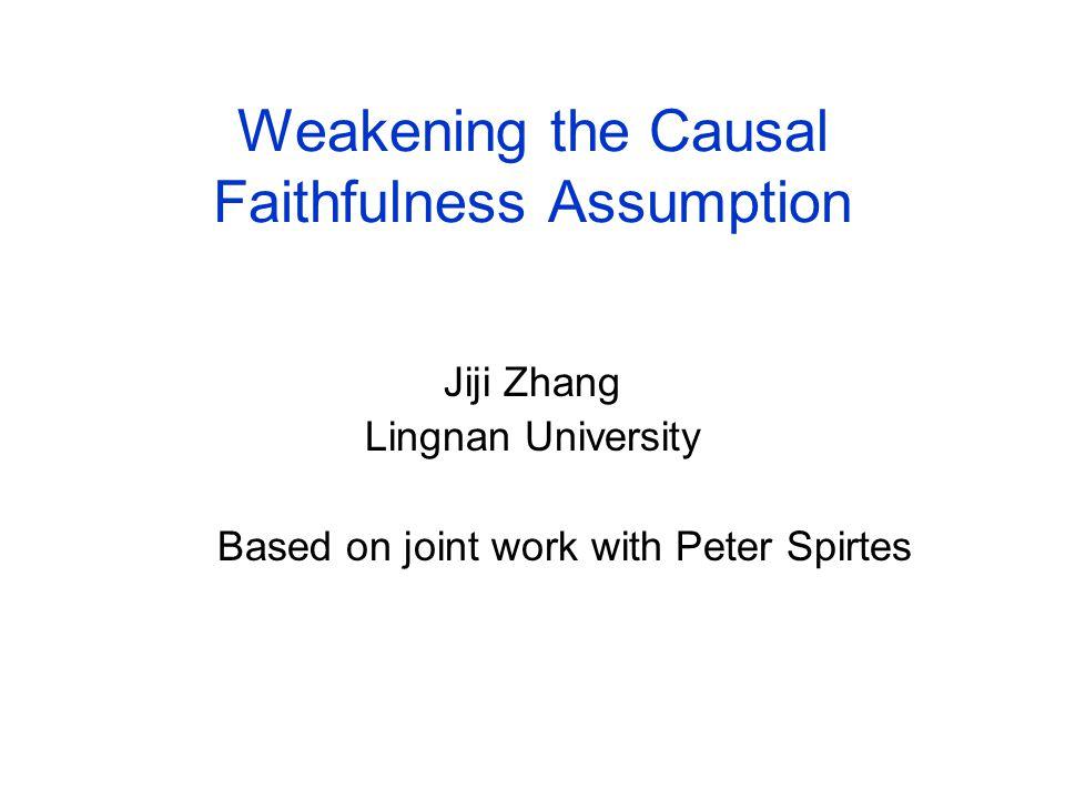Weakening the Causal Faithfulness Assumption