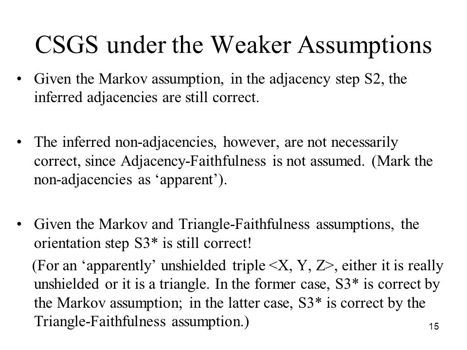 CSGS under the Weaker Assumptions