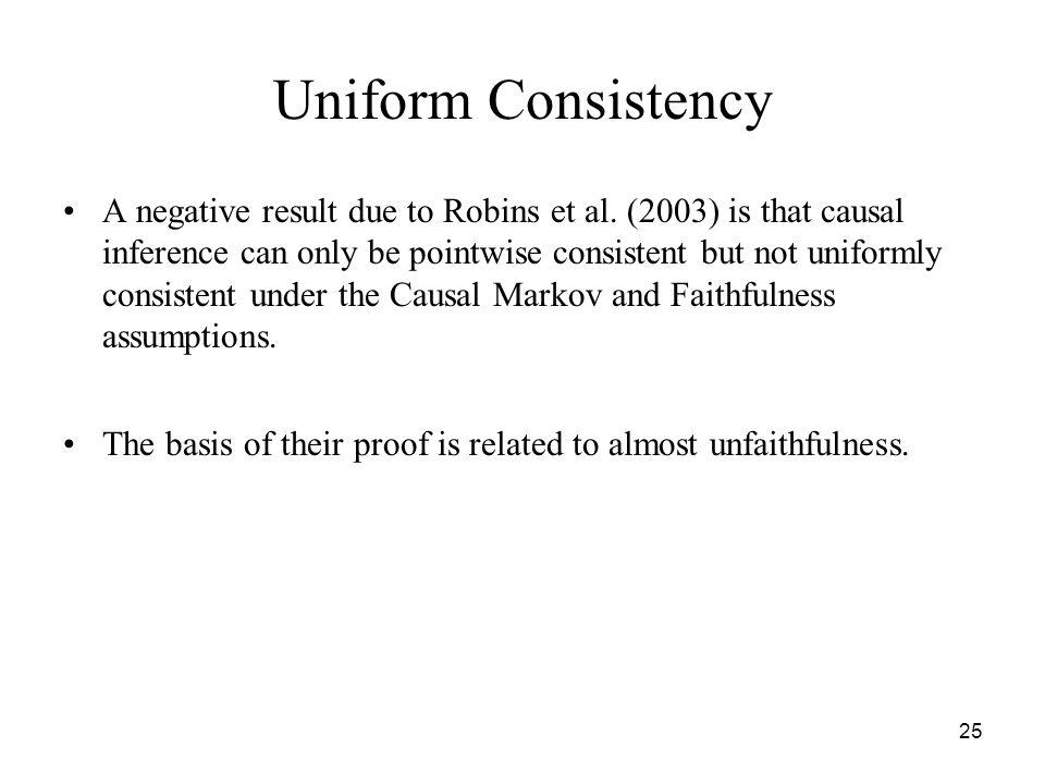 Uniform Consistency