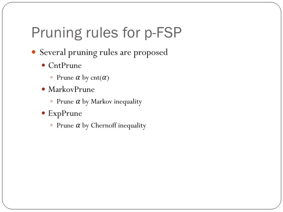 Pruning rules for p-FSP