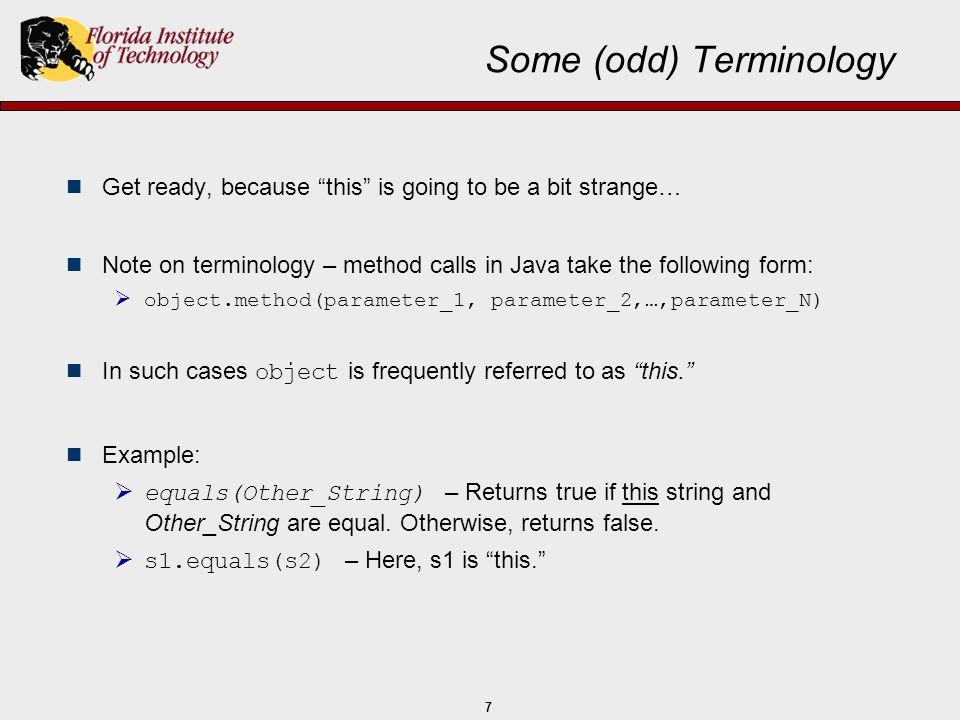 Some (odd) Terminology