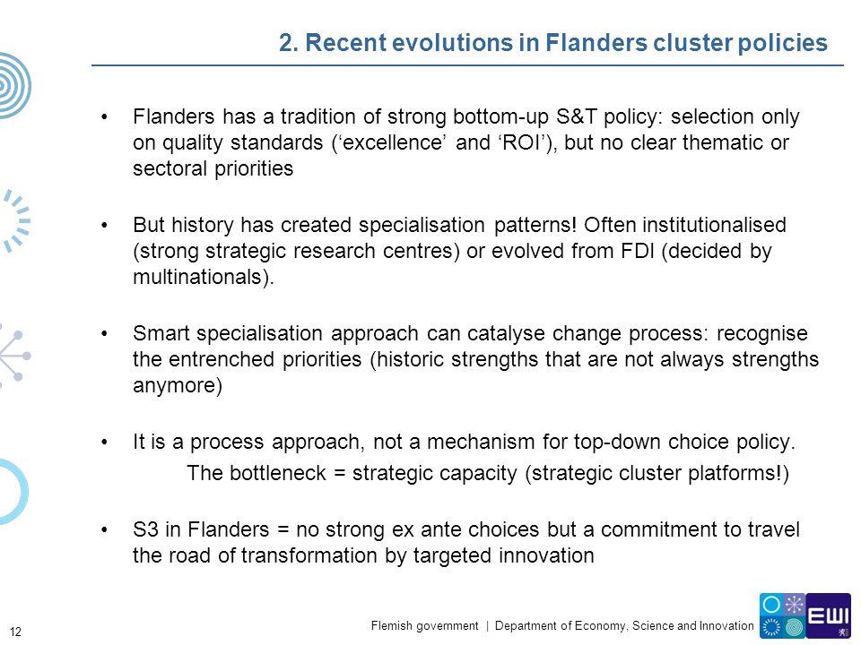 2. Recent evolutions in Flanders cluster policies