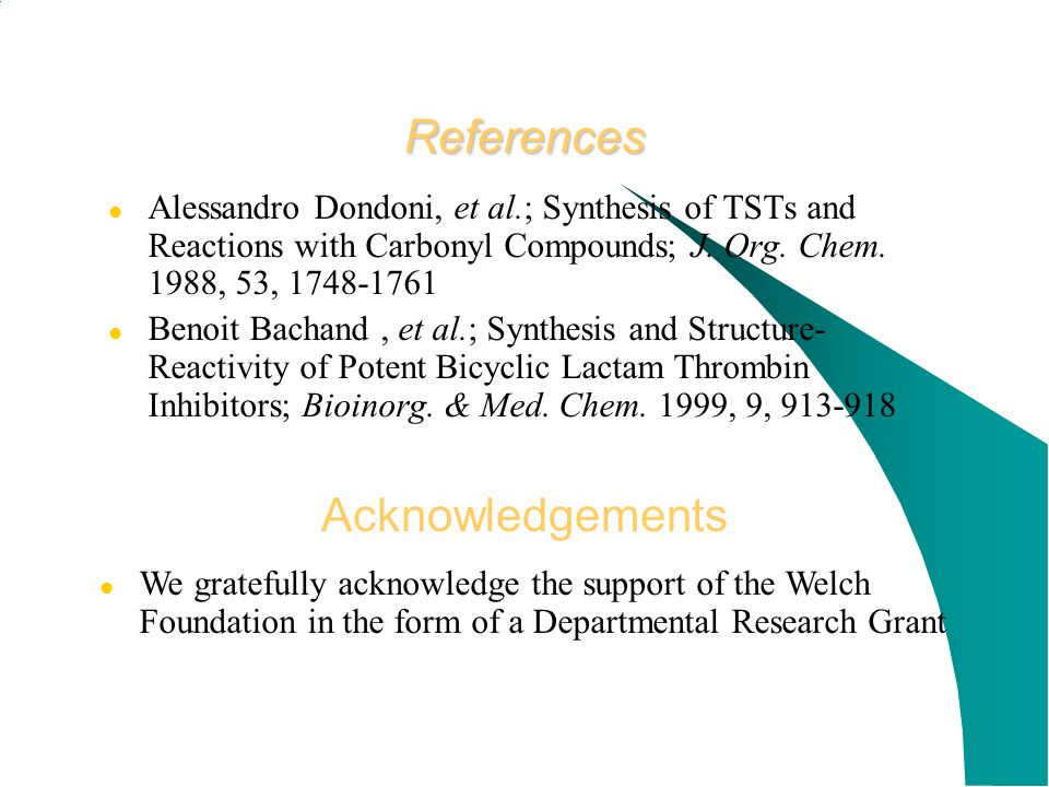 References Acknowledgements