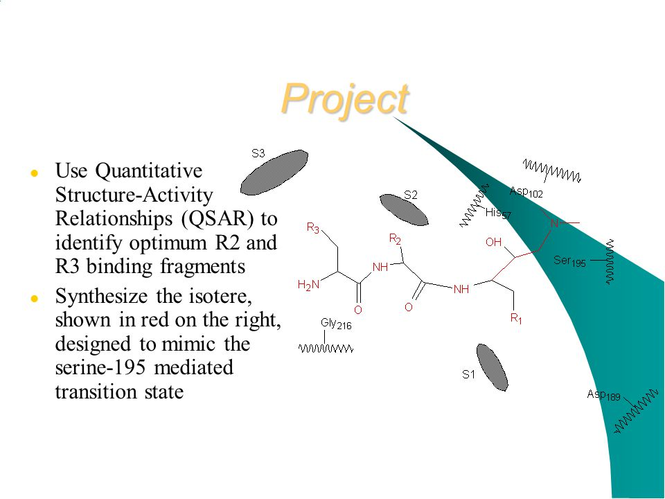 Project Use Quantitative Structure-Activity Relationships (QSAR) to identify optimum R2 and R3 binding fragments.