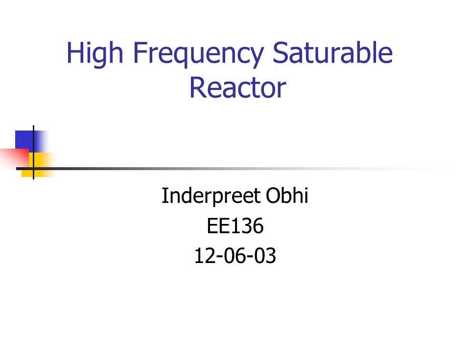 saturable reactor essay