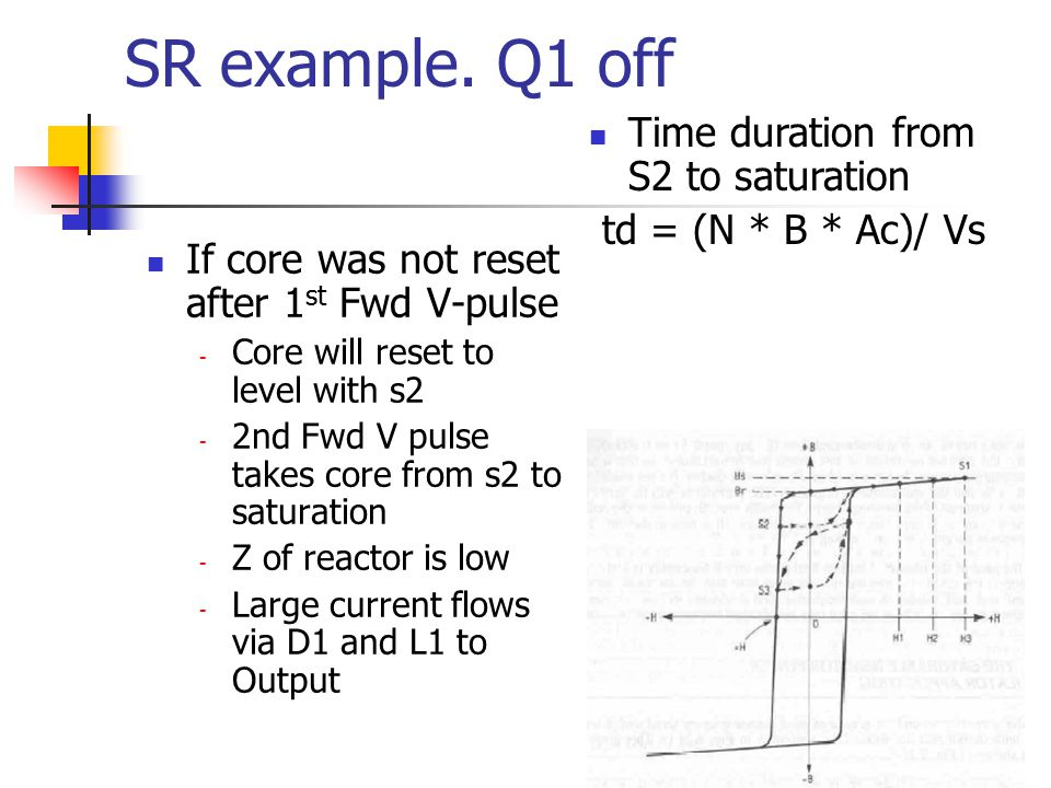 SR example. Q1 off Time duration from S2 to saturation