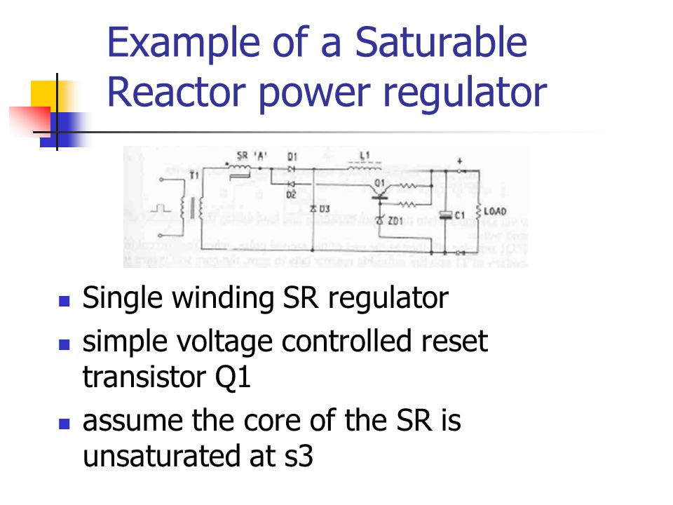 Example of a Saturable Reactor power regulator