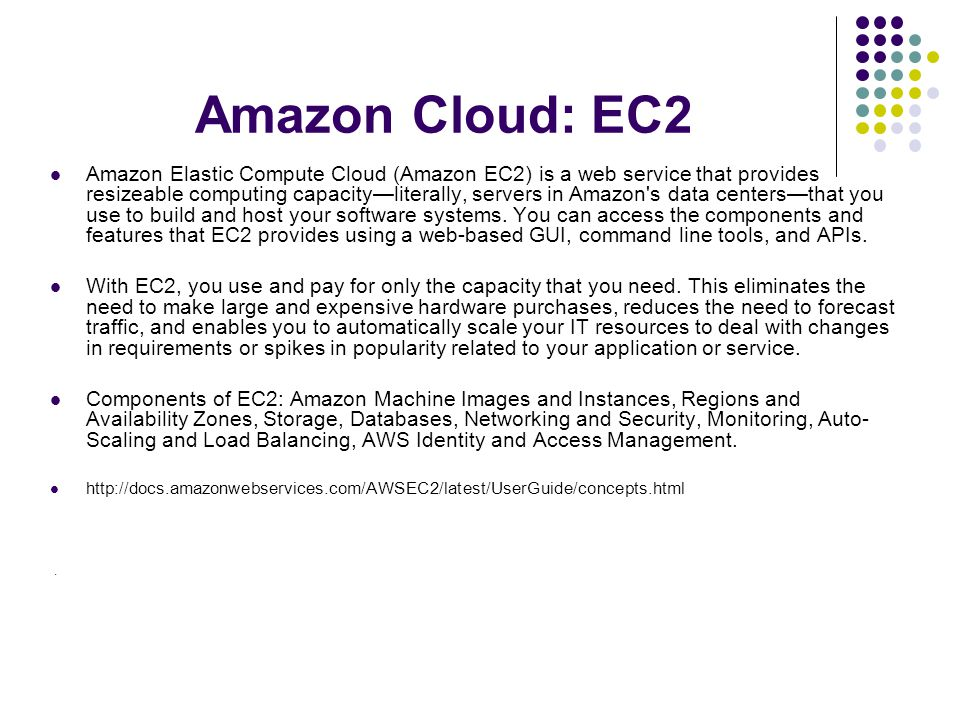 Amazon Cloud: EC2