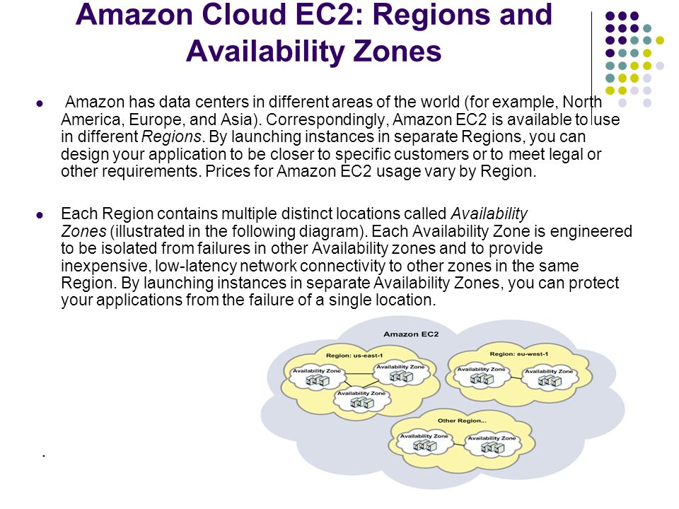 Amazon Cloud EC2: Regions and Availability Zones