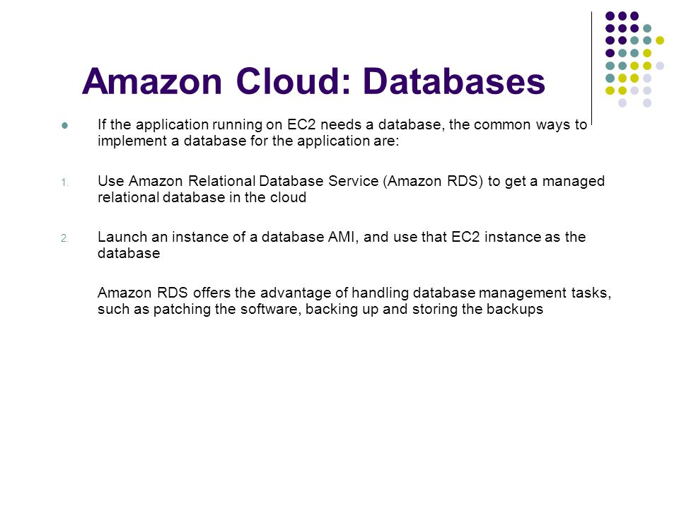 Amazon Cloud: Databases