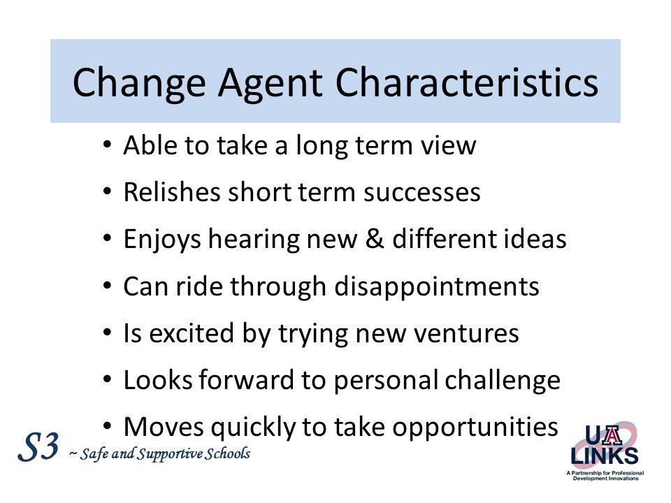 Change Agent Characteristics
