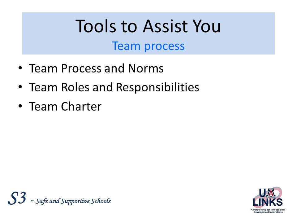 Tools to Assist You Team process