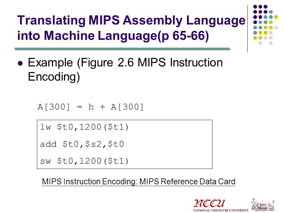 Translating MIPS Assembly Language into Machine Language(p 65-66)