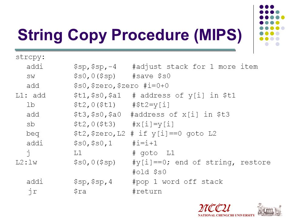 Strcpy In Mips