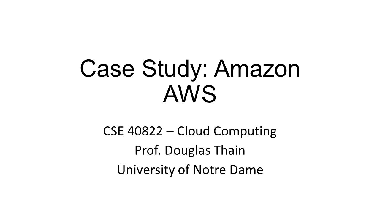 a case study of amazon on