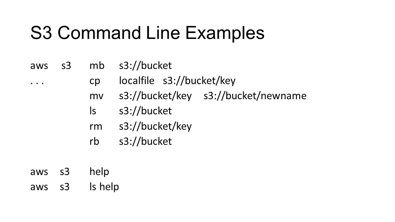 S3 Command Line Examples