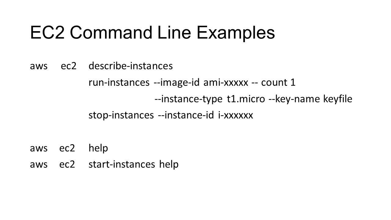 EC2 Command Line Examples