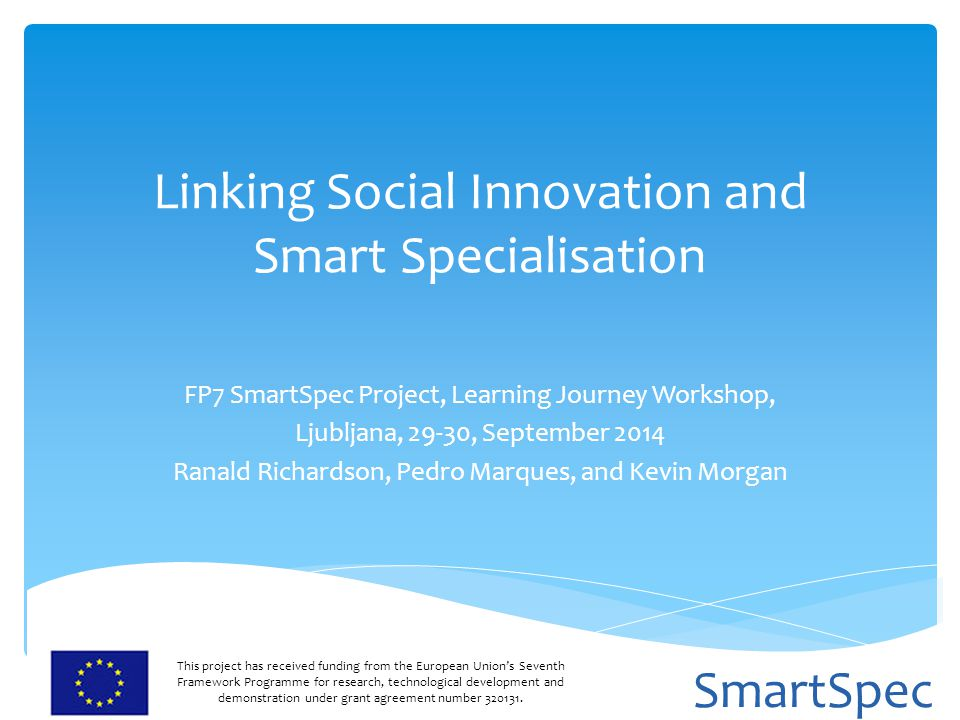 Linking Social Innovation and Smart Specialisation