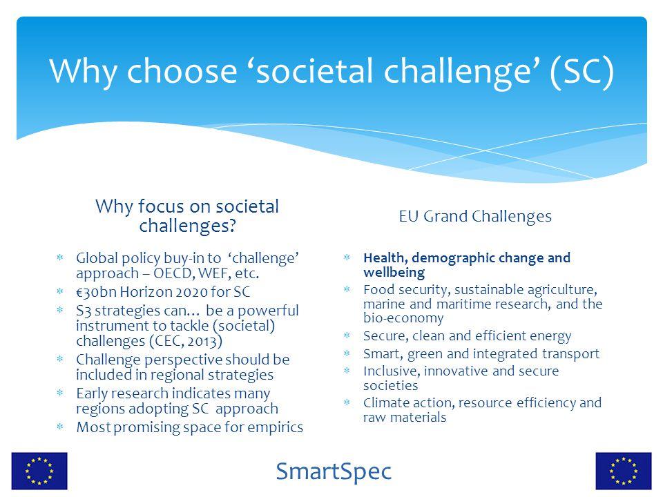Why choose 'societal challenge' (SC)