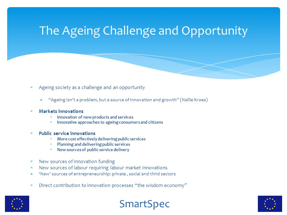 The Ageing Challenge and Opportunity