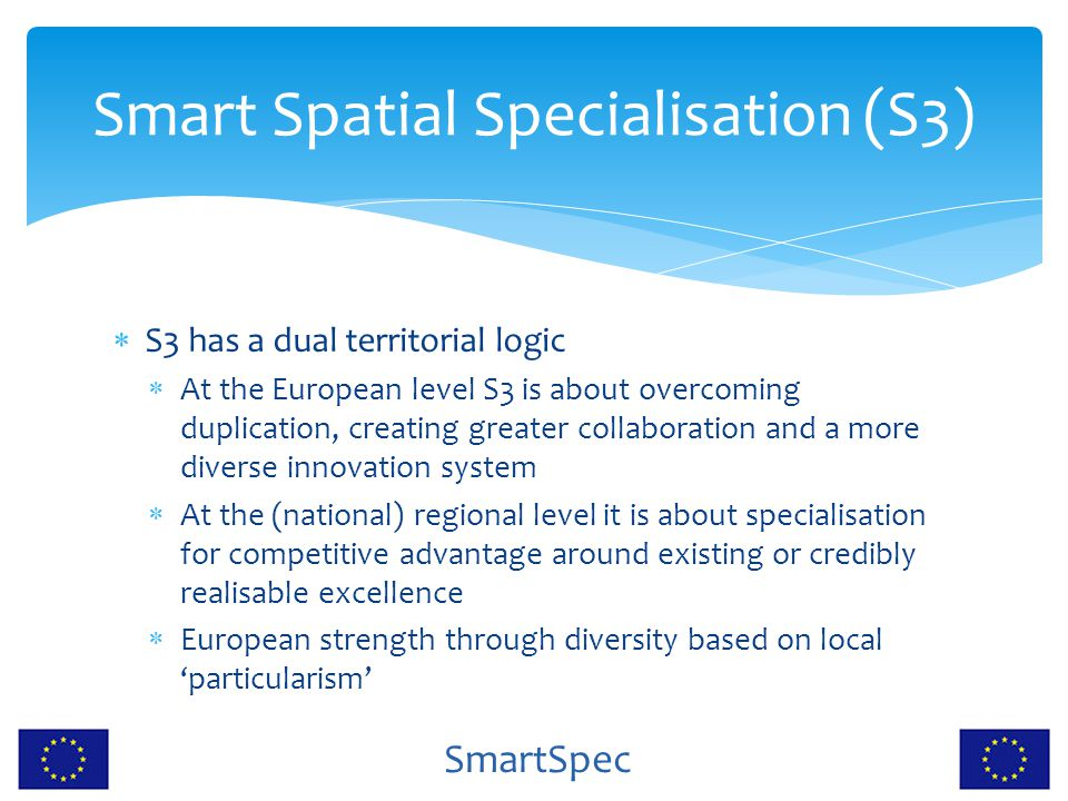 Smart Spatial Specialisation (S3)