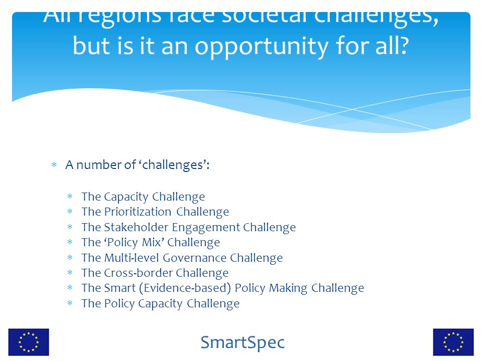 All regions face societal challenges, but is it an opportunity for all