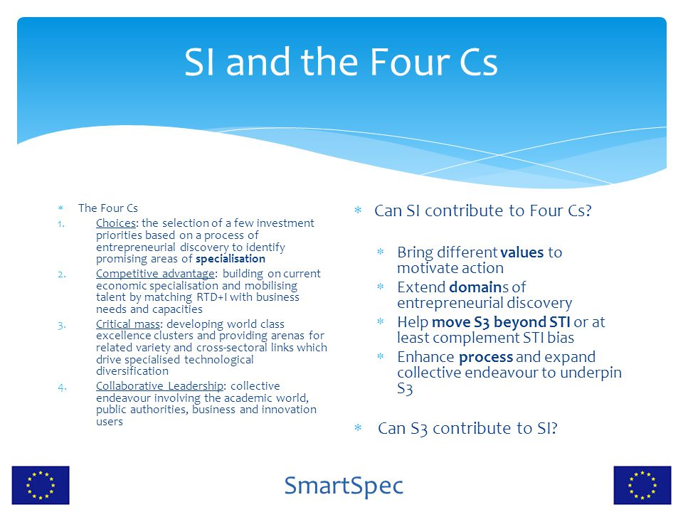 SI and the Four Cs Can SI contribute to Four Cs
