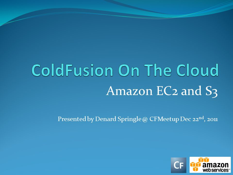 ColdFusion On The Cloud