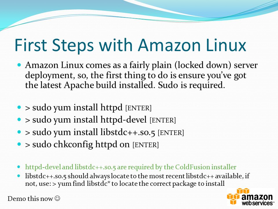 First Steps with Amazon Linux