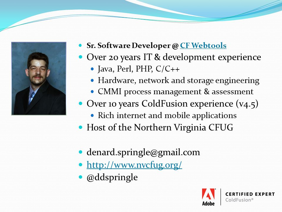 Over 20 years IT & development experience