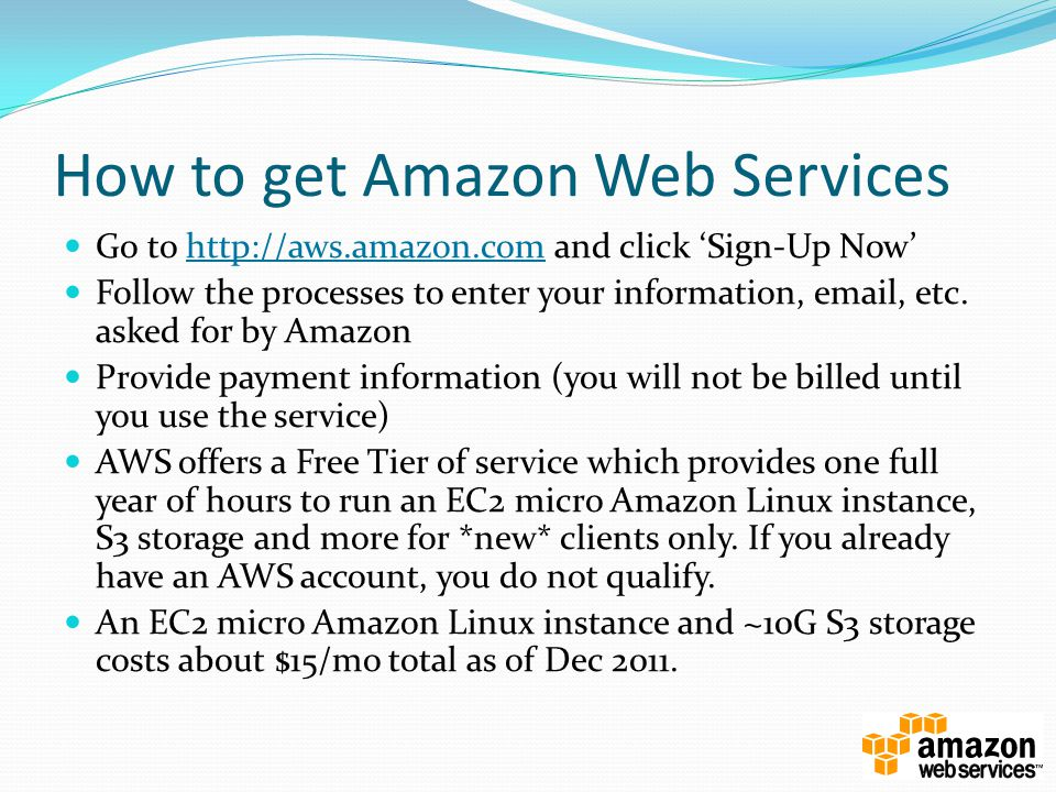 How to get Amazon Web Services