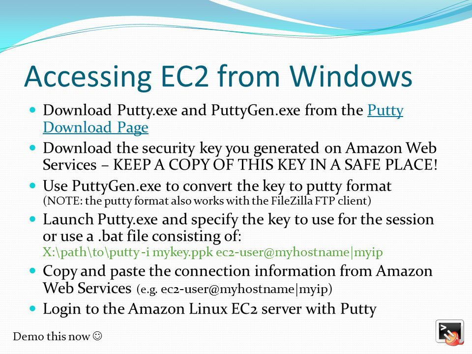 Accessing EC2 from Windows