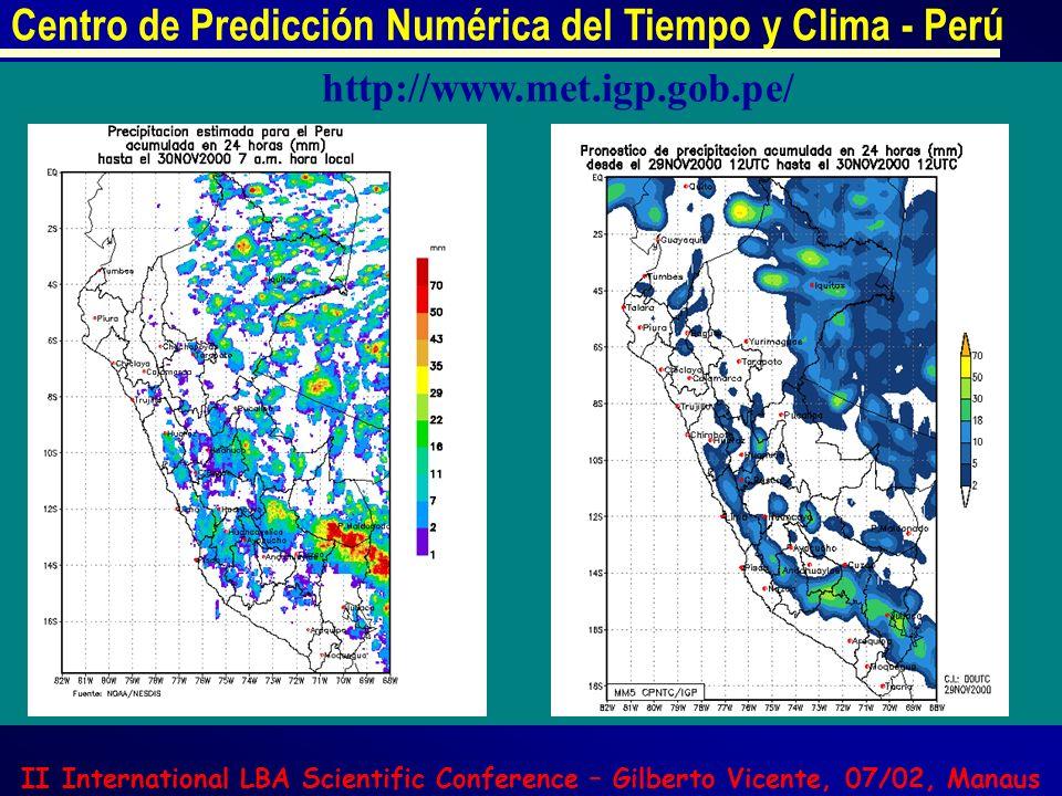 Centro de Predicción Numérica del Tiempo y Clima - Perú