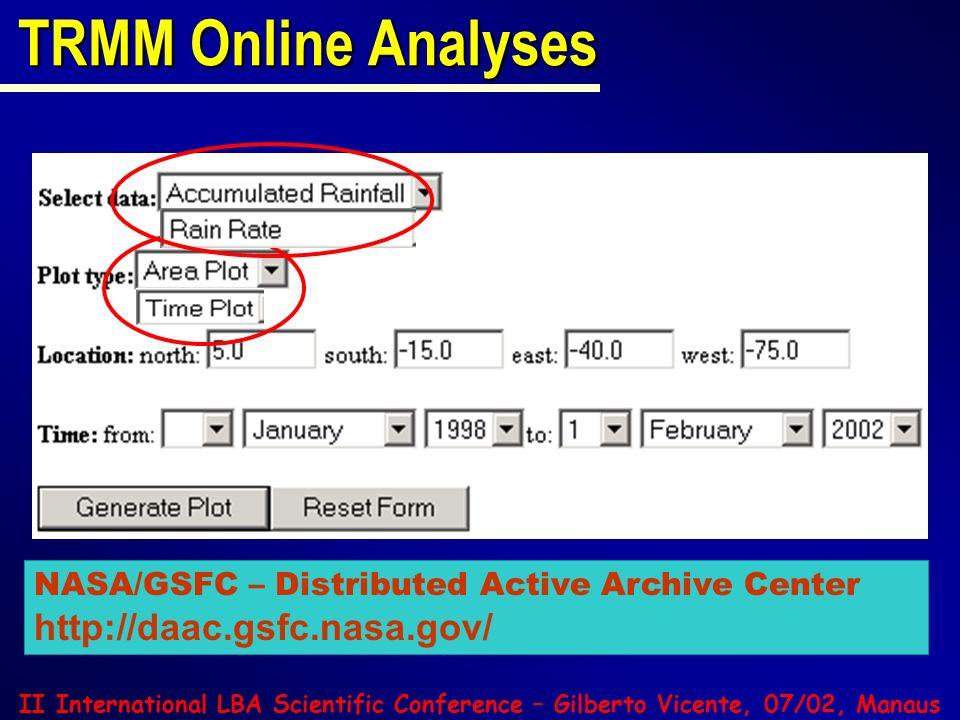 TRMM Online Analyses http://daac.gsfc.nasa.gov/