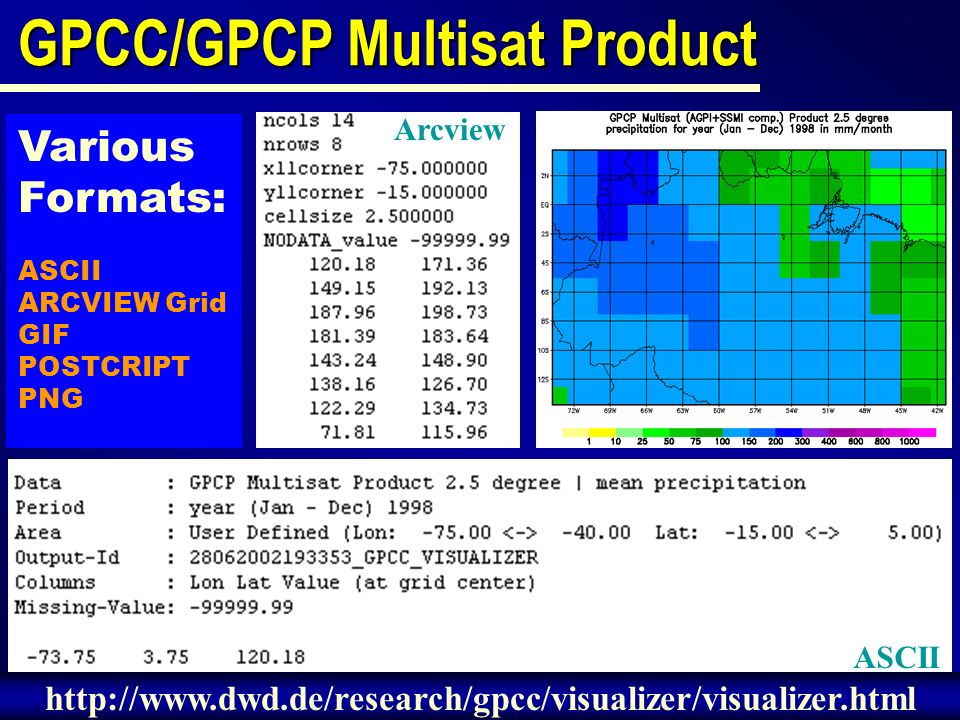 GPCC/GPCP Multisat Product