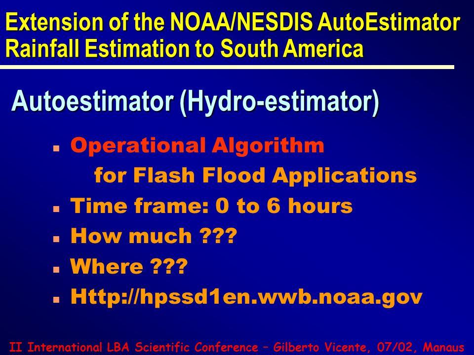 Autoestimator (Hydro-estimator)