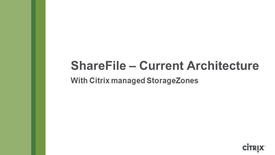 ShareFile – Current Architecture